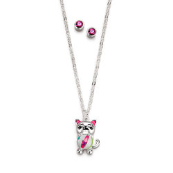 Collar + Aretes Miau Miau