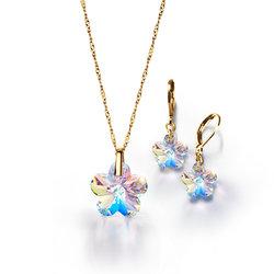 Collar + Aretes Gold Kristalia