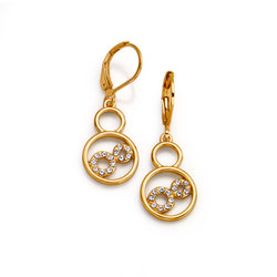 Pendientes Glam Golden Circle