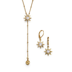 Collar + Aretes Goldstar Glam