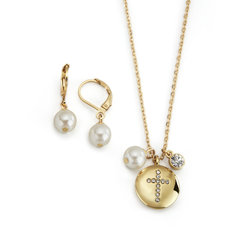 Collar + Aretes Cristal Cross